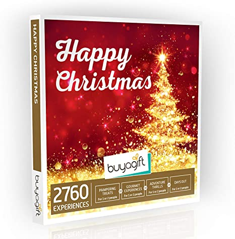 Buyagift Happy Xmas Gift Experience Box 2760 Experiences For One Or Two People Perfect For Gifts And Celebrating The Christmas Season Amazon Co Uk Sports Outdoors