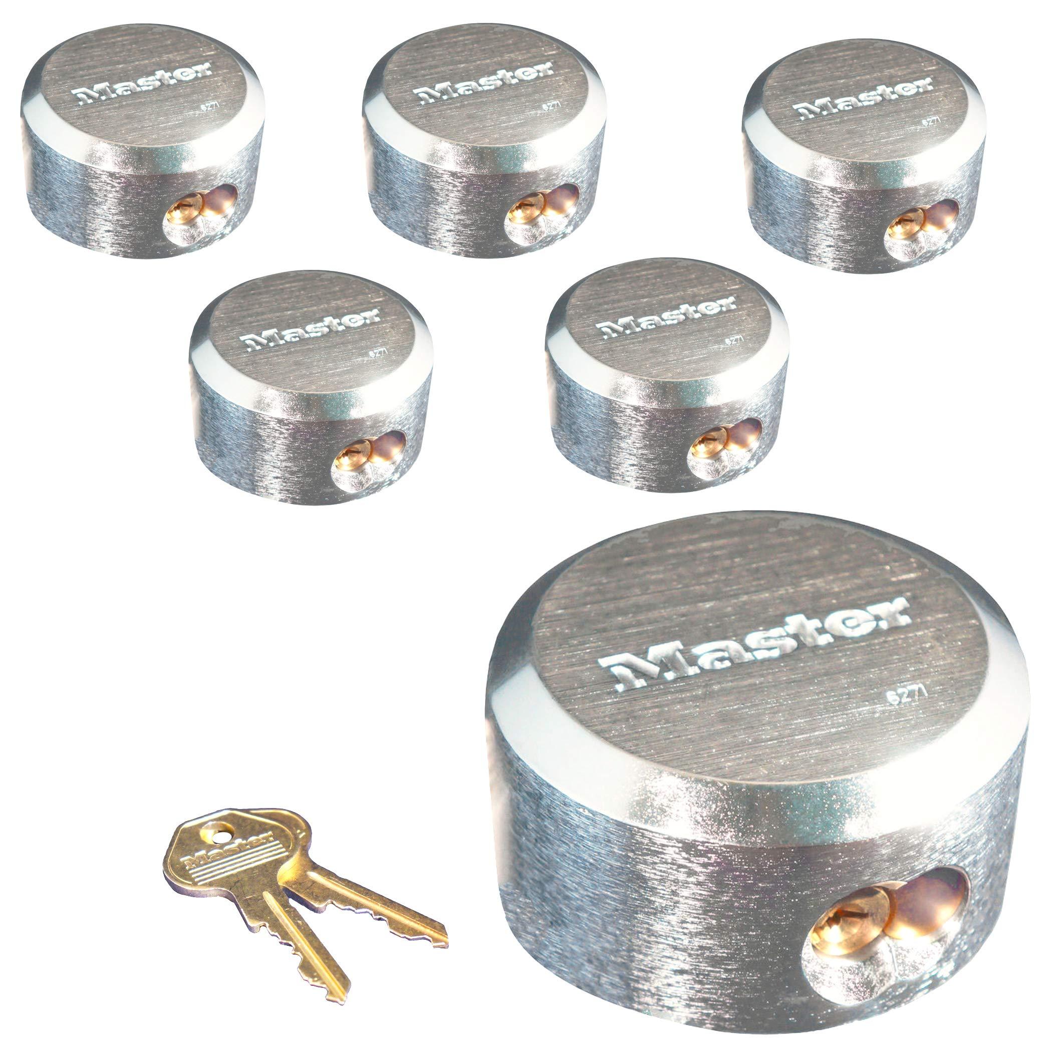 Master Lock Pro Series Hidden Shackle Padlocks, Keyed Alike 6271NKA-6 w/BumpStop Technology