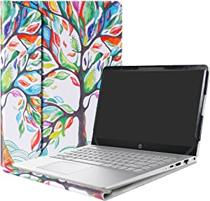 """Alapmk Protective Case for 14"""" HP Pavilion 14 14-bfXXX 14-ceXXX/Pavilion x360 14 14-cdXXXX 14M-cdXXXX 14-dhXXXX Laptop(Not fit Pavilion 14 14-bkXXX 14-bXXX/Pavilion 14 x360 14-baXXX),Love Tree"""
