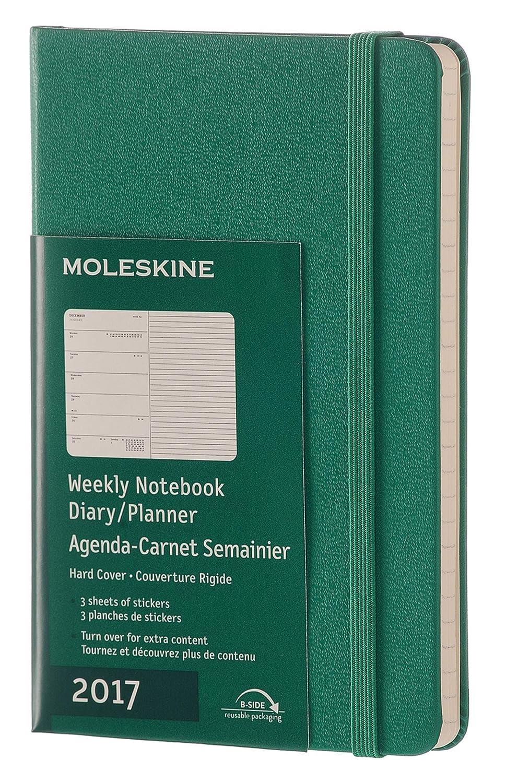 Moleskine 2017 Weekly Notebook, 12M, Pocket, Malachite Green, Hard Cover (3.5 x 5.5)