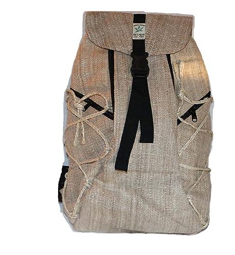 Mochila de fibra de cáñamo, mochila de día de cáñamo / mochila de senderismo de cáñamo / mochila ...