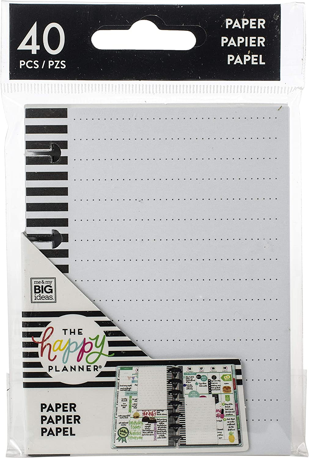 Me /& My Big Ideas Happy Planner Tiny Lined Note Paper 40//Pkg