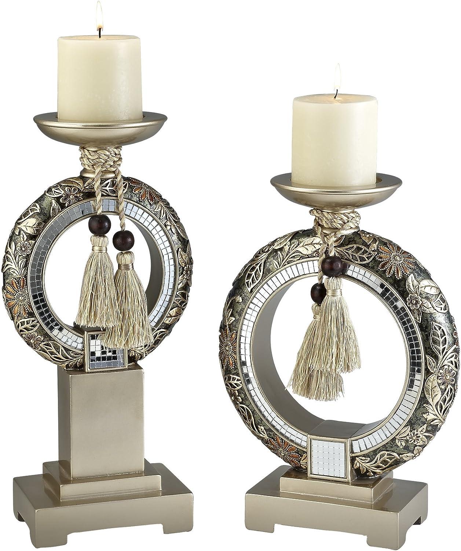 OK Lighting Chrysanthemum Candleholder Set