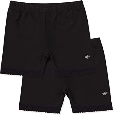 Childrens Tagless Shorts for Under Dresses /& Uniforms Lucky /& Me 2 Pack Leah Girls Undershorts