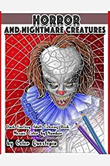 Horror and Nightmare Creatures Mosaic Color by Number Dark Fantasy Adult Coloring Book (Fun Adult Color By Number Coloring) Paperback