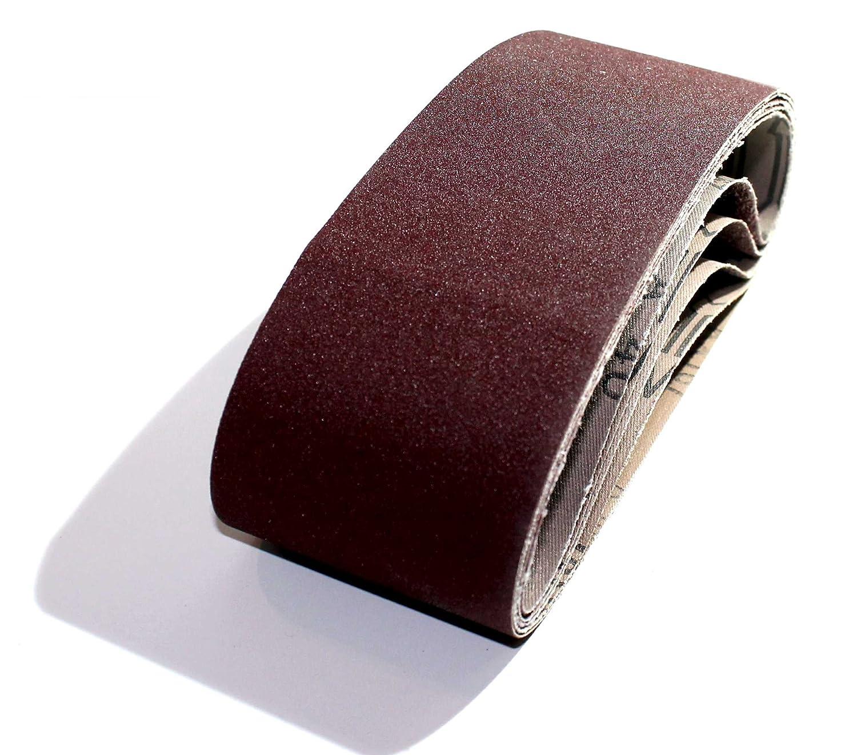 25 Gewebe-Schleifb/änder 75 x 533 mm K/örnung je 5 x 40//60//80//120//180 f/ür Bandschleifer Schleifband f/ür Handels/übliche Bandschleifger/äte