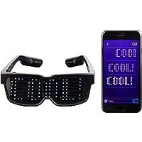 CHEMION- Único Bluetooth gafas de LED - texto personalizable y animaciones. Perfecto para fiestas Rave, conciertos