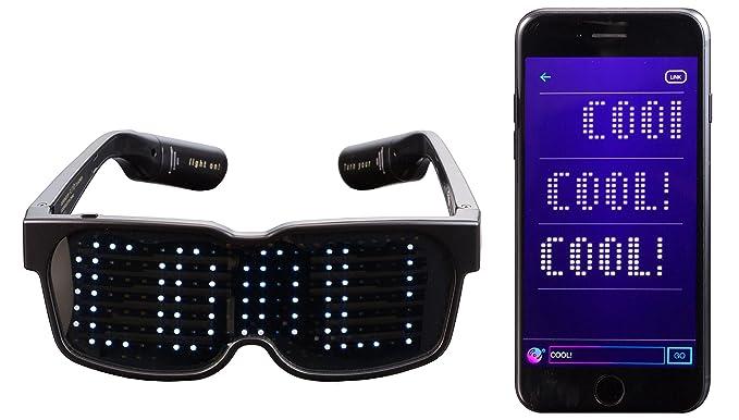 2724f23de1 Amazon.com  CHEMION - Customizable Bluetooth LED Glasses for Raves ...