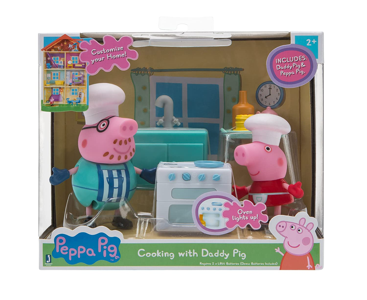 Amazon.com: Peppa Pig Little Rooms, Kitchen with Peppa & Daddy: Toys ...