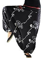 Sarouel virblatt unisexe pantalon ethnique avec tissages traditionnels, sarouel avec une taille élastique et confortable, pantalon ethnique, taille unique, vêtements ethniques S – L Halluzination