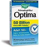 Nature's Way Primadophilus Optima Adult 50+ 50 Billion Vcap, Acidophilus, 30 Count