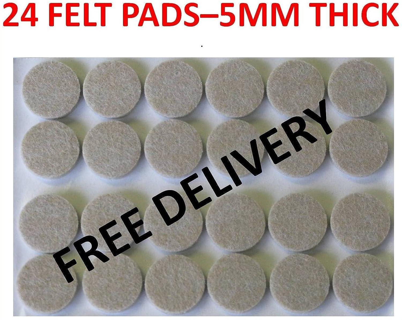Pack of 24 Floor Laminate Wood Furniture Protector Adhesive Felt Pads