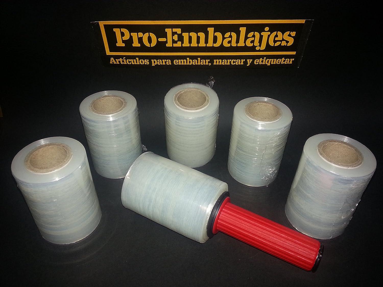 6 rollos Minifilm + aplicador. Rollo minifilm de 100 mm. de ancho + aplicador manual de plástico