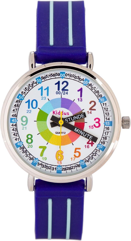KIDDUS Lern Armbanduhr für Kinder - Kinderuhren