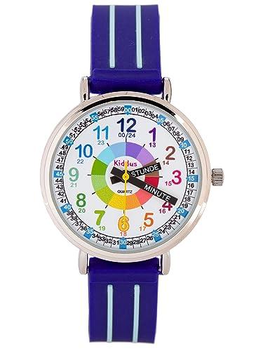 KIDDUS Reloj Niño con indicador de Hora en Aleman KI10305: Amazon.es: Relojes