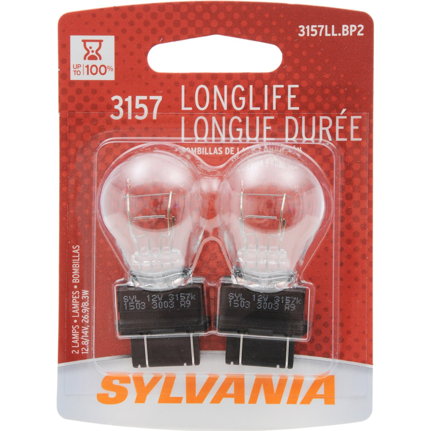 Sylvania 3157 Long Life Miniature Bulb Contains 2 2012 Ford Focus Light Switch Bulbs Automotive