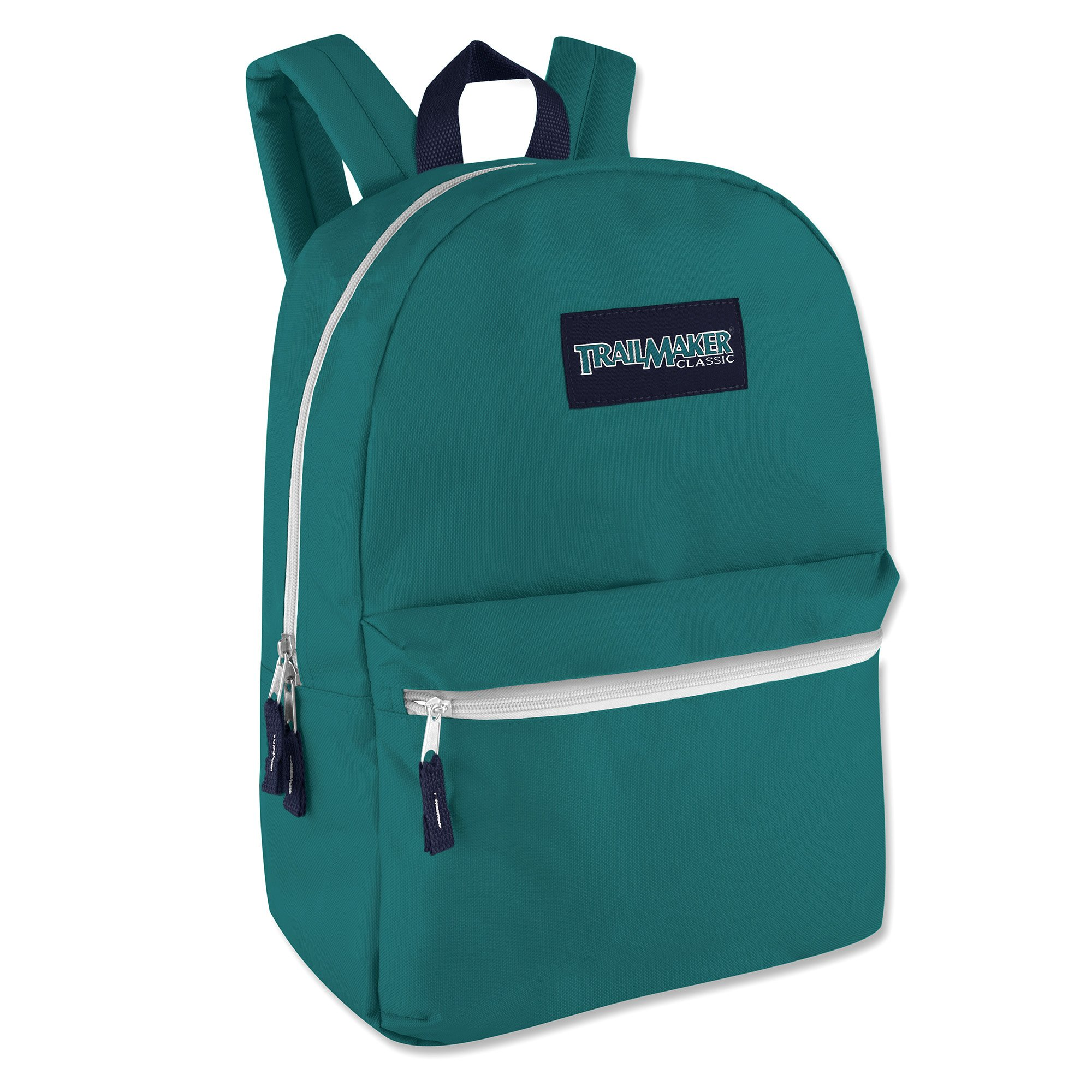 Trailmaker Classic Super Popular Best Seller Sturdy 17 inch Padded Backpack (Blue) by Trail maker (Image #2)