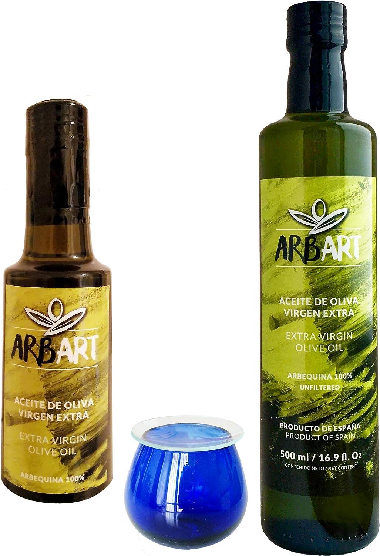 Arbart - Aceite de Oliva Virgen Extra - Caja Regalo - 2 botellas + copa de cata: Amazon.es: Alimentación y bebidas