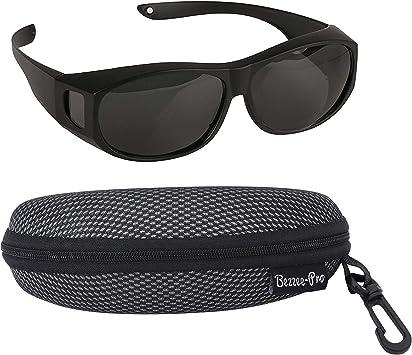 Polarizado desgaste de gafas de sol–gafas de ojo de carcasa para Regular y prescripción Gafas para reducir el brillo–ligero–cómodo–Hombres y Mujeres adultos tamañ