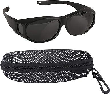 Sobre Gafas de Sol - Negro Plástico Sobre Las Gafas con Lentes ...