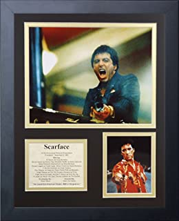 Amazoncom Legends Never Die Scarface Gun Framed Photo Collage