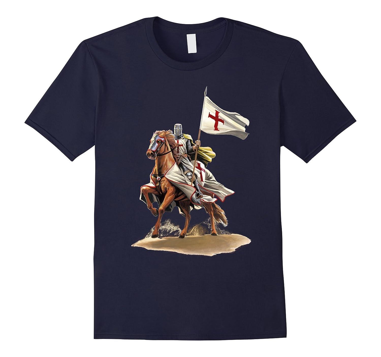 The Crusader - I Fear No Evil - Knights Templar T-Shirt-Vaci