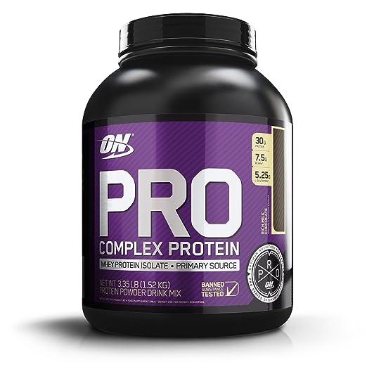 Optimum Nutriton Pro Complex, Rich Milk Chocolate, 3.30 Pounds Whey Proteins at amazon