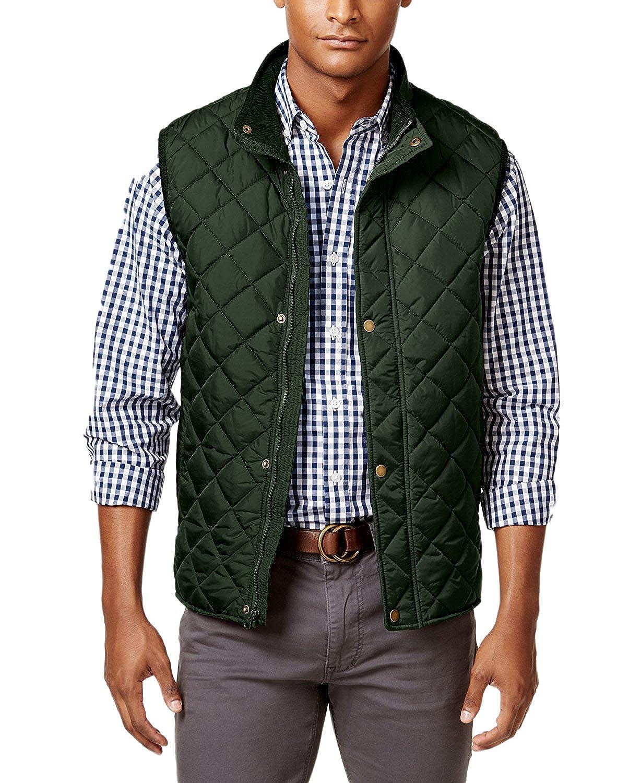 4XLT Duffel Bag Club Room Mens Big /& Tall Zip and Snap Quilted Vest