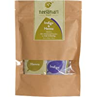 Neelamari Natural Indigo With Henna Powder (100 g + 100 g)