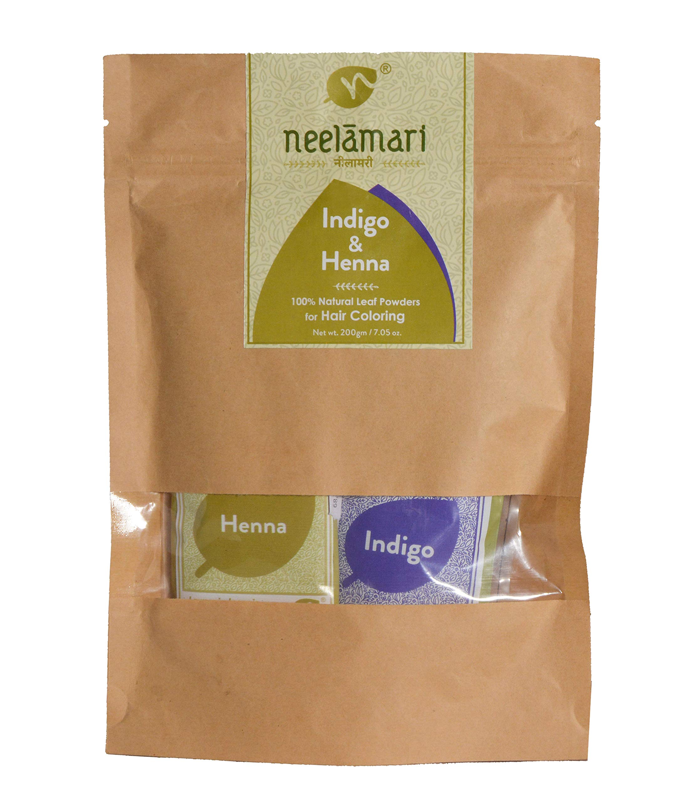 Neelamari Natural Indigo With Henna Powder (100 g + 100 g) product image