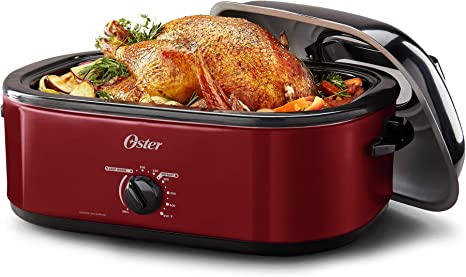 OSTER 18-QUART ROASTER OVEN SILVER HIGH DOME SELF-BASTING LID WITH VIEWING WINDOW