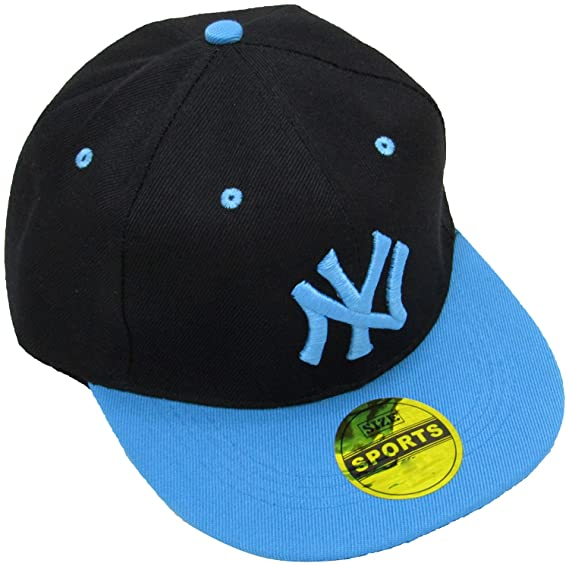 269442a10a8 Masti Station Hip Hop Snapback NY Cap (Black and Blue)  Amazon.in  Clothing    Accessories