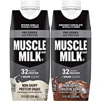 Muscle Milk Pro Series Protein Shake Bundle Pack, Intense Vanilla & Knockout Chocolate, 32g Protein, 11oz Cartons (24…