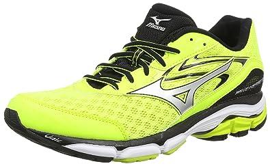 Mizuno Wave Inspire 12, Chaussures de Running Compétition Homme, Jaune -  Yellow (Safety