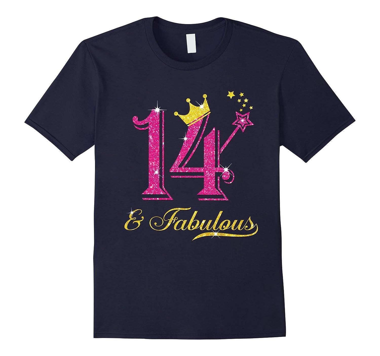 14th Birthday Girl Fabulous Princess Shirt-PL