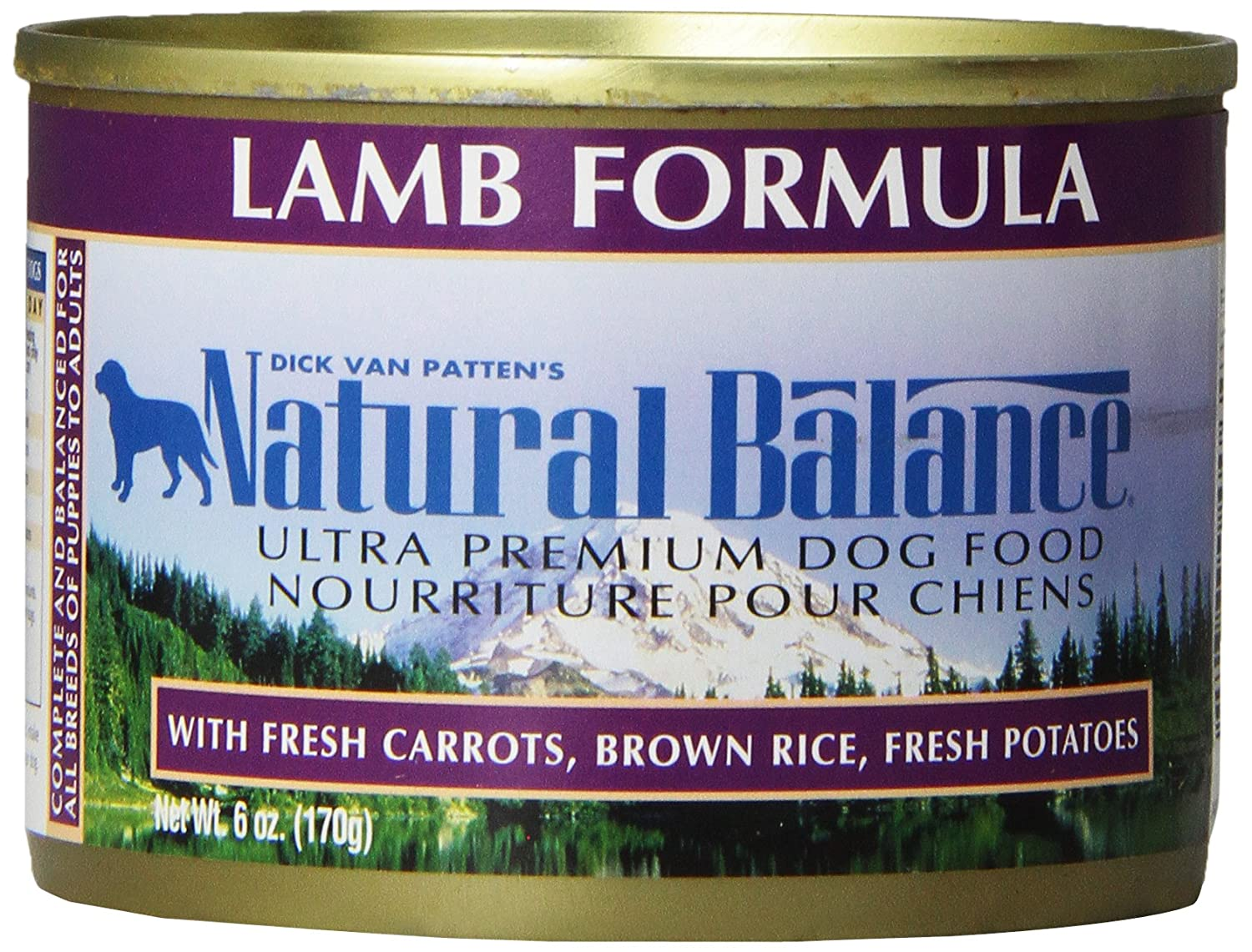 Natural Balance Ultra Premium Lamb Canned Dog Formula, Case of 12 Cans/6 Oz