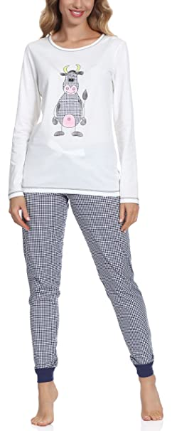 Italian Fashion IF Pijamas para Mujer Malina New 0223(Ecru-2, S)