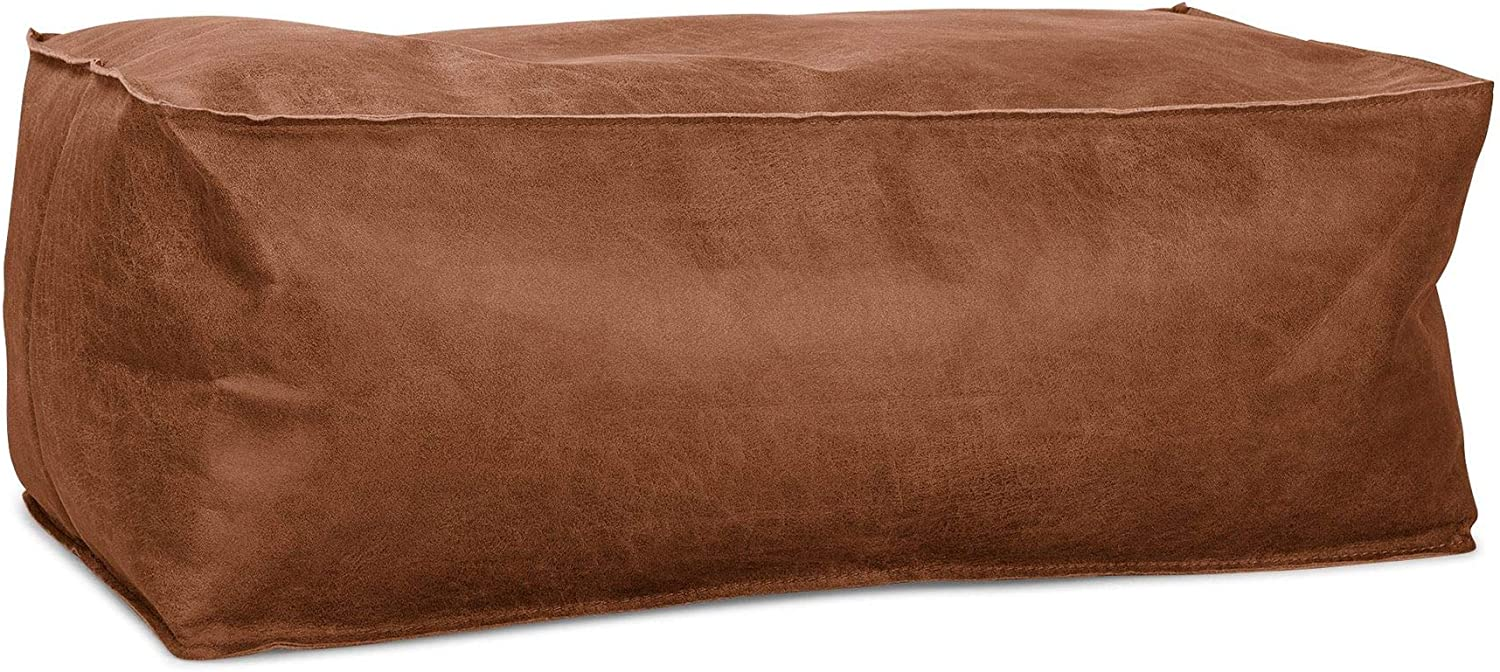 XXL Moroccan Contemporary Extra Large Leather Floor Cushion Luxurious design Cover Only Leather XXL Pouffe Camel Brown