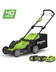 "Greenworks 40V Cordless Lawn Mower 41cm (16"") with 2x 2Ah batteries and charger - 2504707UC"