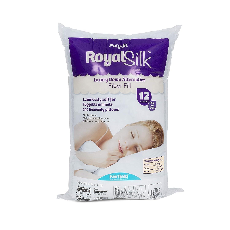 White 12 oz Тwo Рack Fairfield PFRS12 Poly-Fil Royal Silk Fiber Fill Bag