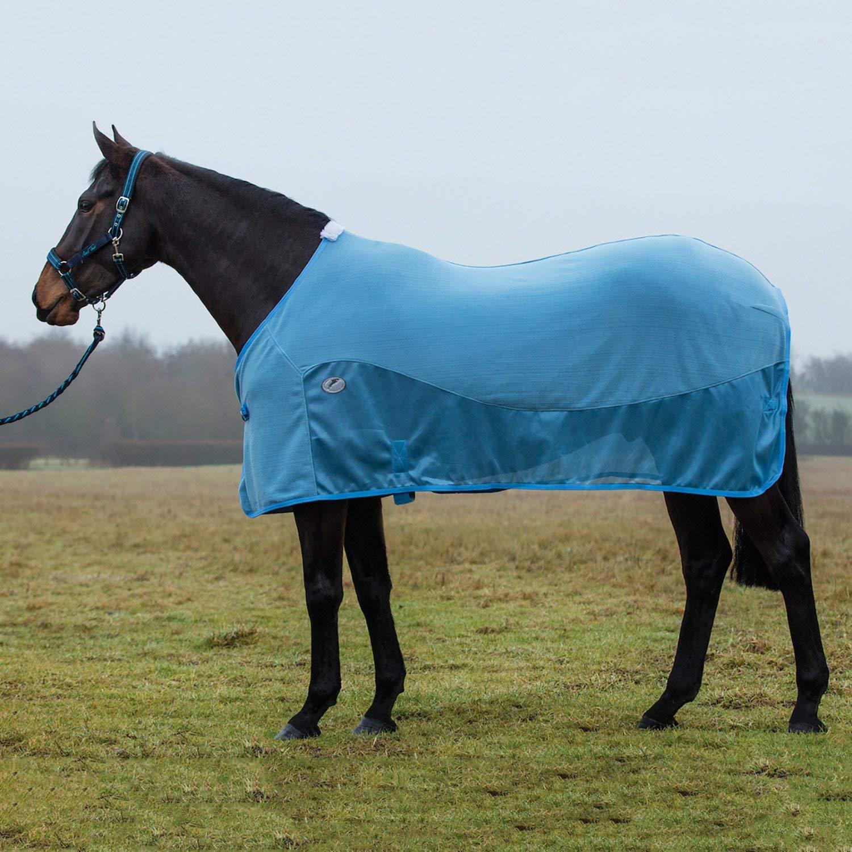 JHL Essential Fleece Mesh Cooler Rug 6ft6 bluee