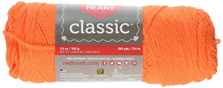 Coats: Yarn Red Heart Classic Yarn, Tangerine: Amazon.ca: Home & Kitchen