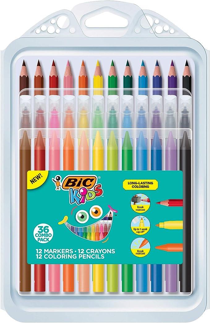 Box of 24 Bic Kids Visa Colouring Pens Green
