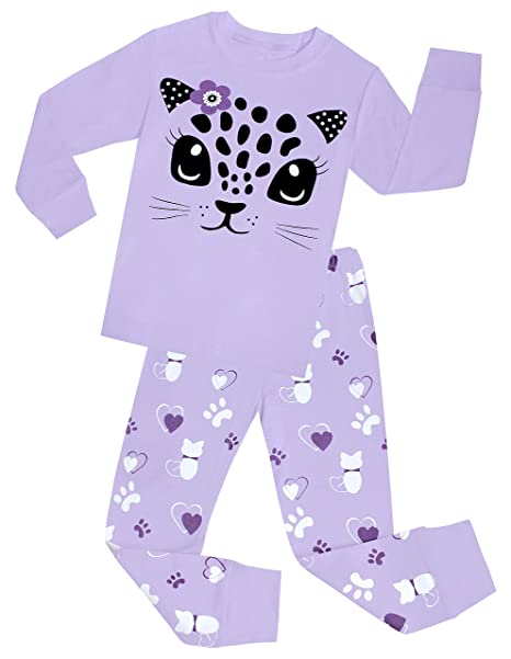 little girls cat pajamas set children cotton clothes christmas gift pjs size 2 years
