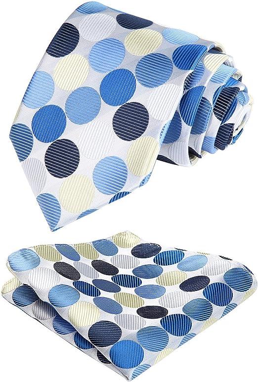 Amazon.com: BIYINI - Juego de corbata y pañuelo cuadrado ...