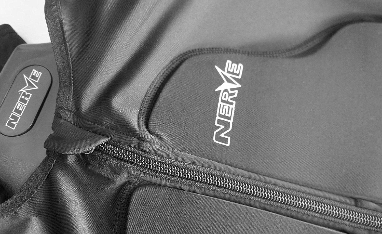 Negro M-L Nerve Armorgel Chaleco de Protecci/ón para Moto Motocross