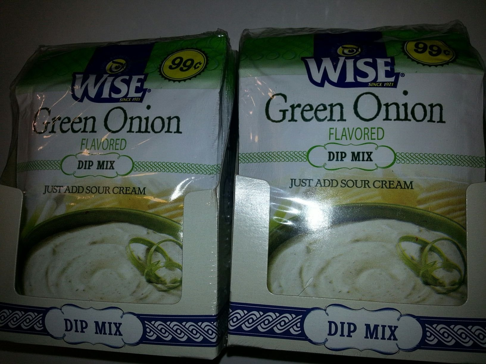 Wise Green Onion Dip Mix Tri Pack- 36 Packets Total by Wise