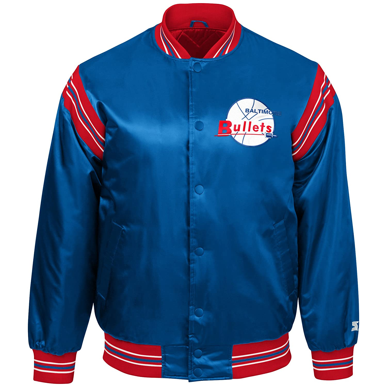 aab53b2ce285 Amazon.com   STARTER NBA Youth Boys The Enforcer Retro Satin Jacket    Sports   Outdoors