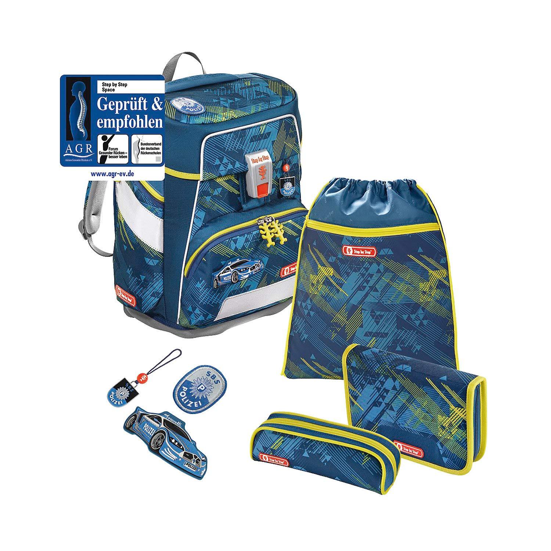Step by Step Space - Juego de mochila y accesorios escolares (5 piezas), diseño de policía urbana: Amazon.es: Oficina y papelería