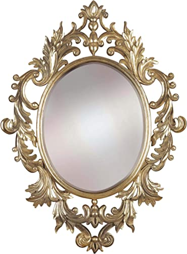 Kenroy Home 60010 Louis Mirrors, Medium, Gold Leaf Finish with Silver Highlights